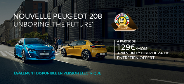 Nouvelle Peugeot 208 COTTY