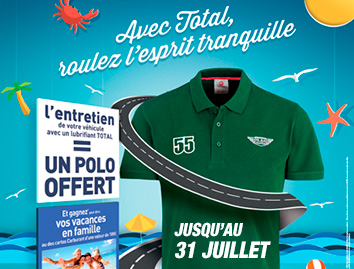 Lubrifiants Total polo offert