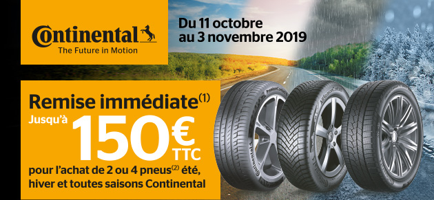 Pneus Continental Octobre 2019