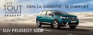 Peugeot 5008 l'été tout compris