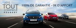 Gamme Peugeot l'été tout compris
